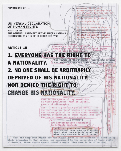 The State is not a Work of Art by Katerina Gregos.